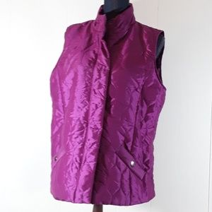 Jones New York Sport purple vest size large